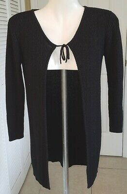 LIMITED TOO Black Long Sweater Cardigan -- Girls Large/X-Large