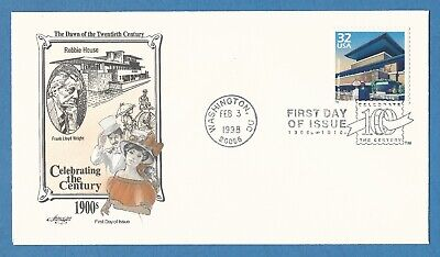Frank Lloyd Wright Robie House Prairie Style Chicago US Stamp First Day Cover !