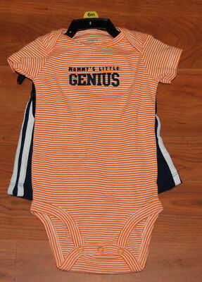 Carter's Baby Boy 6 month t- Shirt  Bodysuit with shorts Striped Genius NWOT