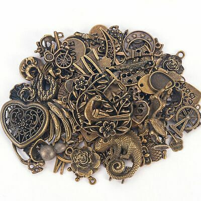 50g/pack Vintage Mixed Shapes Jewelry Making Charms Pendants DIY Crafts Making