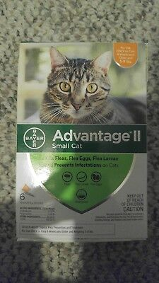 Bayer Advantage II for Small Cats 5-9 Lbs - 6 Pack -  FLEA TREATMENT CONTROL