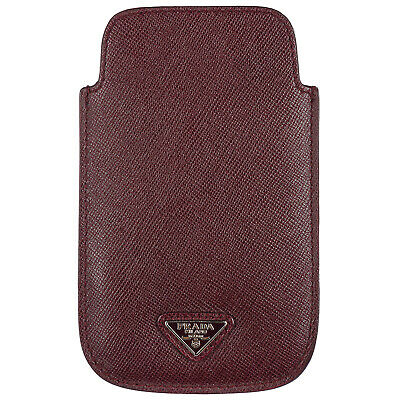Prada Cover Case Decken Iphone Hülle 5 5S Neu Bordeaux E72