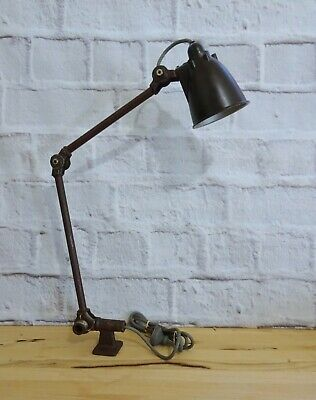Vintage Industrial Machinist Lamp with Bakelite Shade Made in Australia