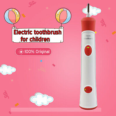 New Philips HX6330 HX6320 Sonicare Children's Electric Single Toothbrush Red