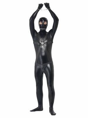 NEW Black Bondage Gimp Costume - Funny Stag Do Men's Fancy Dress Costume