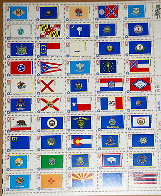 1976 sheet, 50 state flags Sc# 1633-82