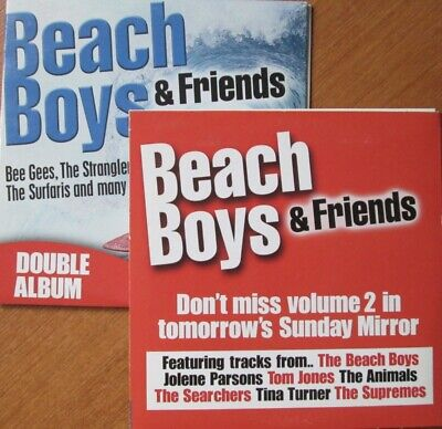 Beach Boys & Friends Cd Music Bee Gees Surfaris Animals Mungo Jerry Double Album