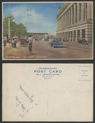 SINGAPORE OLD POSTCARD Fullerton Building G P O  Boats Food Supplies