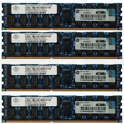32GB 4x 8GB 2RX4 PC3-10600R DDR3 1333 MHz 240Pin ECC Registered RDIMM SERVER Ram