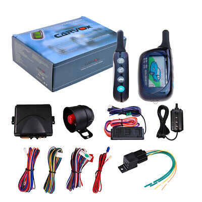 2Way Auto Car Pager Alarm Keyless Entry Security LCD Remote Control Start System