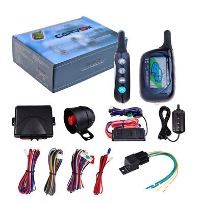 2Way Car Auto Pager Alarm Keyless Entry LCD Remote Control Start Security System