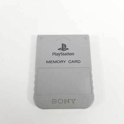 Official OEM Sony Playstation 1 PS1 PSOne Memory Card 1MB SCPH-1020 Dark Gray