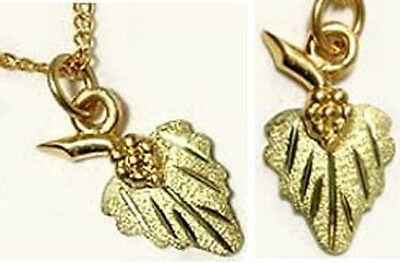 Handcrafted South Dakota Black Hills Green 12kt Gold Leaf Grapes Punic Wars Rome