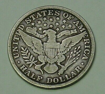 USA 1900 Barber Half Dollar, nice old appearance, about Fine.