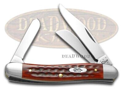 Case xx Stockman Knife Pocket Worn Jigged Old Red Bone Handle Stainless 00786