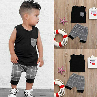 Fashion Toddler Baby Boy Summer T-shirt Tops+Shorts Pants Clothes Outfits Set