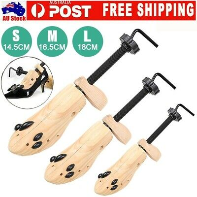 2-Way Wooden Shoes Stretcher Expander Shoe Tree Unisex Bunion Plugs New