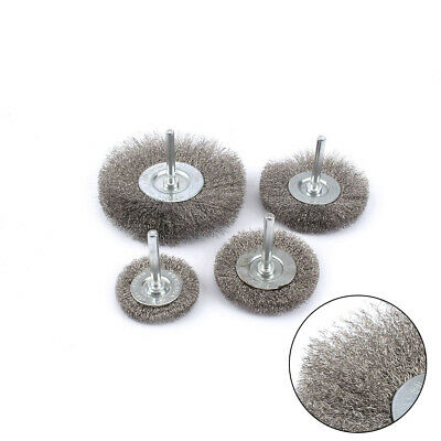 """2-4""""Crimped Stainless Steel Wire Wheel Polishing Derusting Cleaning Rotary Tools"""