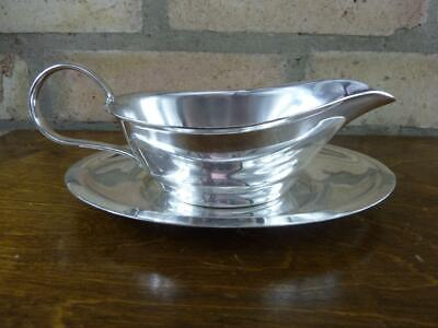 a nice vintage Lockhart EPNS silver plated Sauce boat jug with stand