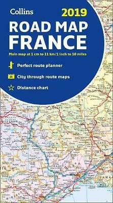 2019 Collins Map of France by Collins Maps, NEW Book, FREE & Fast Delivery, (Map