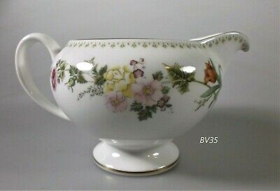"Wedgwood Mirabelle Creamer 3"" Leigh Shape -Perfect!!"