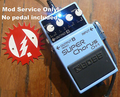 Mod Service Only: Boss CH-1 Super Chorus Guitar Effects (No Pedal) Alchemy Audio