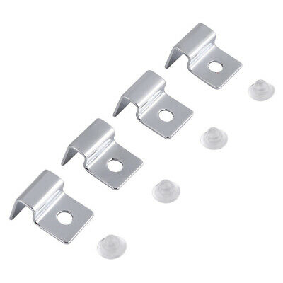 4X Fish Tank Glass Cover Support Holders Steel Clips For Aquarium Tank Hot UK