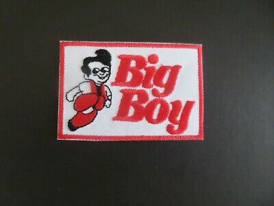 """BIG BOY RESTURANTS"""" RED & WHITE  Embroidered 2 x 3 Iron On Patch"""