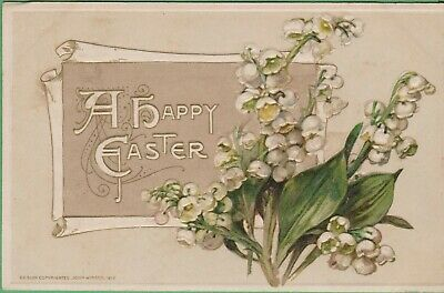 Vintage Antique Early 1900's Postcard ++ A Happy Easter Winsch 1912