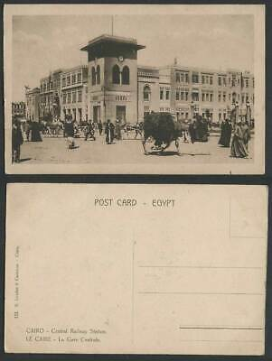 Egypt Old Postcard Cairo, CENTRAL RAILWAY STATION, Le Gare Centrale, Clock Tower