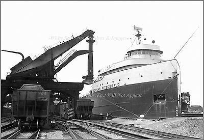 Photo: The SS Edmund Fitzgerald At Toledo Processing Plant, 1968
