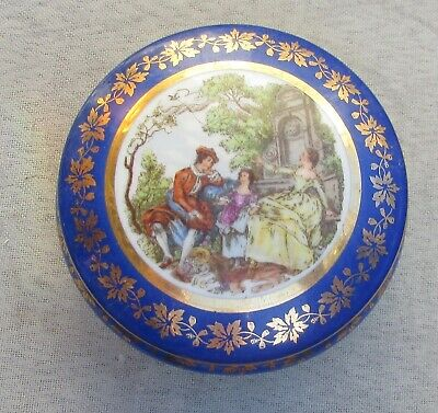 Stunning Vintage Limoges Porcelain Lidded Box