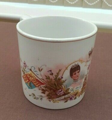 Antique Ceramic Mug to Commemorate Coronation Of King Edward VII-June 26. 1902.