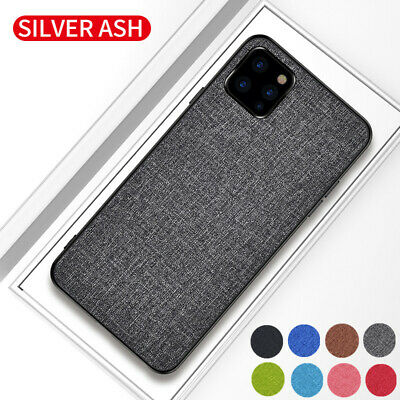 For iPhone 11 Pro MAX XS XR 8 7 6s Plus Shockproof Fabric Hybrid Hard Case Cover
