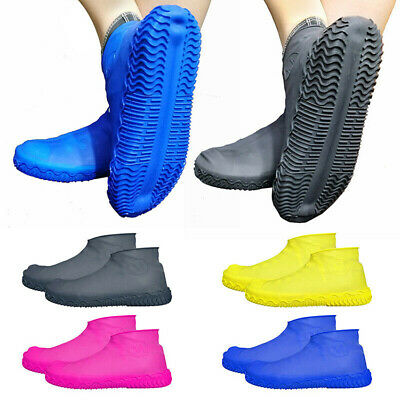 1Pair Silicone Rain Waterproof Shoe Cover Reusable Boot Cover Protector Non-slip