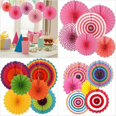 6X Paper Fan Flowers DIY Wedding Baby Birthday Party Tissue Garland Paper Decor
