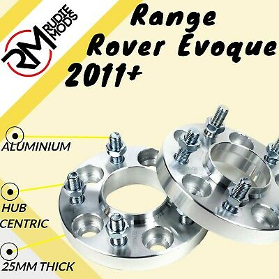 Range Rover Evoque 2011 On 5x108 25mm M14x1.5 Hubcentric wheel spacers 1 Pair