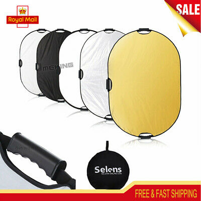 Selens 60x90cm 5in1 Handheld Mulit Collapsible Portable Light Reflector Disc UK