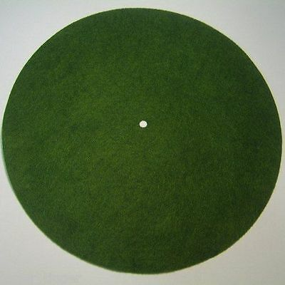 "Victor Phonograph LARGE LIGHT GREEN Turntable Felt - Round (fits 12"" diameter)"
