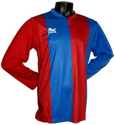 Blue+Red Mens Full Football Kits With Socks, Brand New, Size My, Ly, S, L, Xl