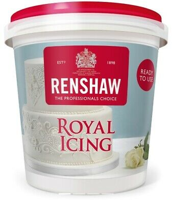 Renshaw Ready To Use / Made White Royal Icing For Cake Decorating & Piping 400g