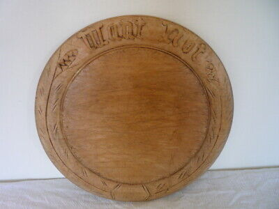 A Good Carved Wood Bread Board Vintage Kitchenalia - Want Not - Motto