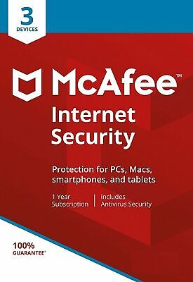 McAfee Internet Security 2019 3 Multi Devices 1 Year Fast Delivery by Email EU