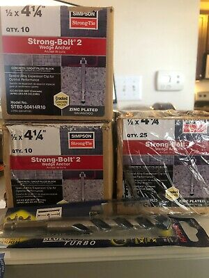 Simpson Strong-Tie STB2-504144SS 1//2 x 4-1//4 304SS Strong-Bolt2 Anchor 25ct