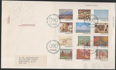 Canada 966a Canada Day pane of 12, Large FDC 1982