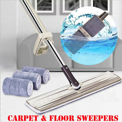 Flat Mop Hands-Free Washable Mop Home Cleaning Tools Lazy Clean Broom Kitchen AU