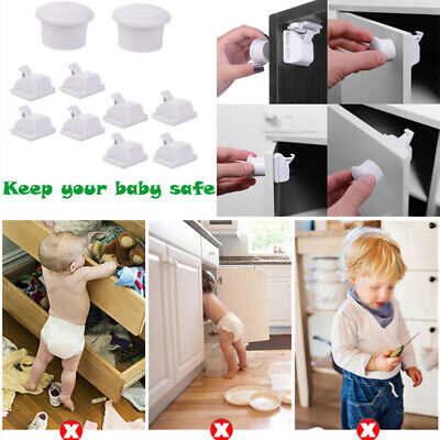 Invisible Magnetic Baby Child Pet Proof Drawer Cupboard Safety Lock Catch & Key