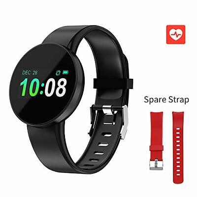 RCRuning-EU Fitness Tracker Orologio Smartwatch Donna Uomo (Black and Red)