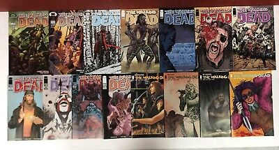 The Walking Dead 15th Anniversary FULL SET of Cover A 15 Issues Total Color Logo