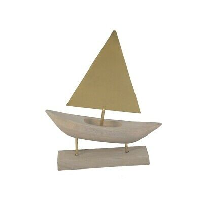 2 WOODEN SAIL SHIP 13 IN boats WOOD ships decor wind sails new model boat toy